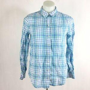 Vineyard Vines Plaid Button Down Shirt 100% Linen